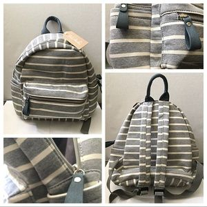 Fashion strip cotton backpack